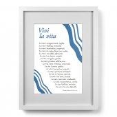 """Quadro """"Vivi la vita"""" (30x40) - Madre Teresa di Calcutta"""