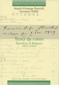 Copertina di 'Tener da conto. Agendine di Bulgaria 1925-1934'