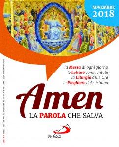Copertina di 'Amen. La parola che salva - Novembre 2018'