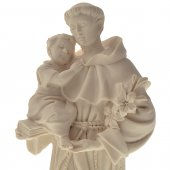 """Immagine di 'Statua sacra in resina bianca con base """"Sant'Antonio di Padova"""" - altezza 21 cm'"""