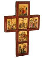 """Croce bizantina """"Vita di Cristo"""" - altezza 32 cm"""