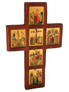 """Copertina di 'Croce bizantina """"Vita di Cristo"""" - altezza 32 cm'"""