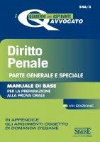 I Quaderni dell'aspirante Avvocato - Diritto Penale Parte generale e speciale - Redazioni Edizioni Simone