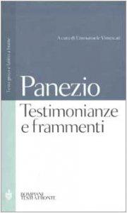 Copertina di 'Testimonianze e frammenti. Testo greco e latino a fronte'