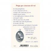 """Immagine di 'Card """"Madre Teresa"""" con preghiera e medaglia - (10 pezzi)'"""