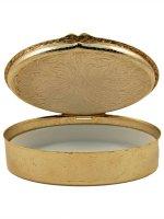 """Immagine di 'Portarosario ovale dorato """"Prima Comunione"""" - altezza 6,5 cm'"""