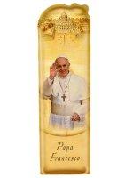 Segnalibro sagomato Papa Francesco e preghiera semplice