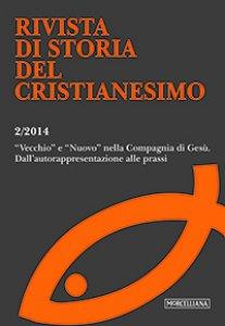 """Copertina di 'RSCR. Vol. 2/2014: """"Vecchio"""" e """"Nuovo"""" nella Compagnia di Gesù'"""