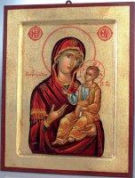 """Icona in legno e foglia oro """"Madonna con Gesù Bambino Maestro"""" - dimensioni 30x23 cm"""