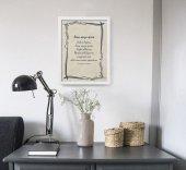"""Immagine di 'Quadro con preghiera """"Rosa senza spina"""" su cornice minimal - dimensioni 44x34 cm'"""