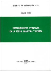 Copertina di 'Procedimientos iterativos en la poesia ugarítica y hebrea'