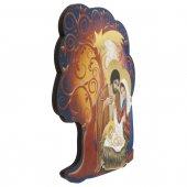 Immagine di 'Albero della Vita in legno da appendere con Natività - dimensioni 14x13 cm'