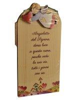 """Immagine di 'Icona in legno """"Angioletto del Signore"""" - dimensioni 9x18 cm'"""