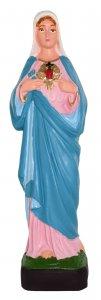 Copertina di 'Statua da esterno del Sacro Cuore di Maria in materiale infrangibile, dipinta a mano, da circa 16 cm'
