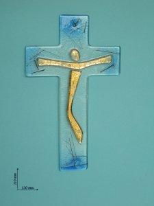 Copertina di 'Croce in vetro colorato - altezza 21 cm'
