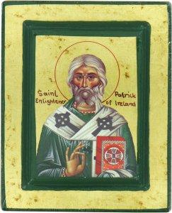 Copertina di 'Icona Saint Patrick / San Patrizio, produzione greca su legno - 13,5 x 11 cm'