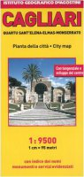Cagliari. Quartu Sant'Elena, Elmas, Monserrato 1:9 500. Ediz. multilingue