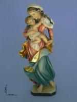 Statua Vergine Maria con Gesù bambino di  su LibreriadelSanto.it