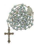 Rosario imitazione perla vetro Ø 5 mm  azzurro