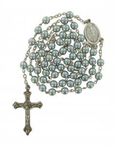 Copertina di 'Rosario imitazione perla vetro Ø 5 mm  azzurro'