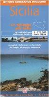Sicilia 1:275 000. Con guida turistica. Ediz. italiana e inglese