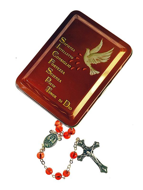 Scatoletta con corona spirito santo in metallo italia for Oggetti da regalo