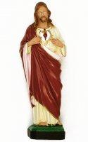 Statua Sacro Cuore di Gesù in materiale infrangibile cm 40 (dipinta a mano) di  su LibreriadelSanto.it