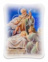 """Icona in polimero bianco effetto pietra """"Natività"""" - dimensioni 12x9 cm"""