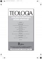 Teologia 3/2018 - Stefano Romanello , Massimo Epis , Laura Invernizzi , Franco Manzi , Bèatrice Oiry