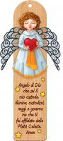 Angioletto del Battesimo magnetico con ali in metallo - altezza 17 cm