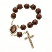 """Rosario decina grande in legno scuro """"Gesù Misericordioso"""""""