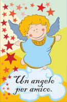 "Card ""Angelo custode"" con LED - dimensioni 8,5x5,5 cm"