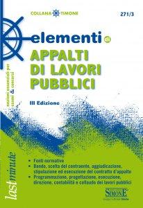 Copertina di 'Elementi di Appalti di lavori pubblici'
