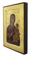 Immagine di 'Icona Madonna con il Bambino, produzione greca su legno - 24 x 18 cm'