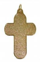 Immagine di 'Croce in metallo dorato con decori verdi - 3,3 cm'