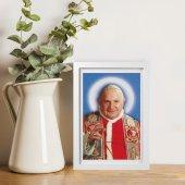 """Immagine di 'Quadretto """"Papa Giovanni XXIII"""" con passe-partout e cornice minimal - dimensioni 15x10 cm'"""