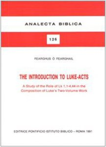 Copertina di 'The introduction to Luke-acts'