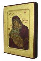 Immagine di 'Icona Madonna della Tenerezza, produzione greca su legno - 18,5 x 14,5 cm'