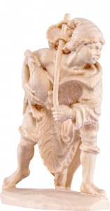 Copertina di 'Pastore con gallo D.K. - Demetz - Deur - Statua in legno dipinta a mano. Altezza pari a 20 cm.'