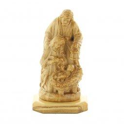 """Copertina di 'Statuetta in legno d'ulivo con base """"Natività"""" - altezza 7 cm'"""