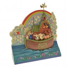 Copertina di 'Arca di Noè in resina colorata - dimensioni 21x19x6,5 cm'