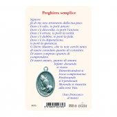 "Immagine di 'Card ""Papa Francesco e San Francesco d'Assisi"" con preghiera e medaglia - (10 pezzi)'"