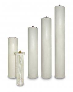 Copertina di 'Candela a cera liquida con cartuccia diam. 6 cm per candela alta 60 cm'