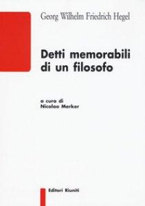 Copertina di 'Detti memorabili di un filosofo'