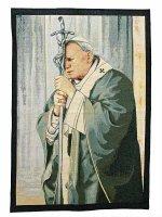 """Arazzo """"Giovanni Paolo II in preghiera"""" (65cm x 46cm)"""