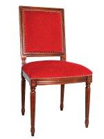 Sedia con seduta in velluto rosso