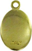 Immagine di 'Medaglia Madonna di Medjugorie in metallo dorato e resina - 2,5 cm'