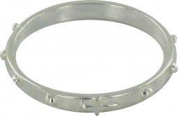 Copertina di 'Rosario anello in argento 925 con 10 grani tondi misura italiana n°20 - diametro interno mm 20,5 circa'