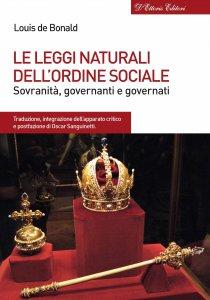 Copertina di 'Leggi naturali dell'ordine sociale. Sovranità, governanti e governati. (Le)'