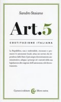Costituzione italiana: articolo 5. La Repubblica, una e indivisibile - Staiano Sandro